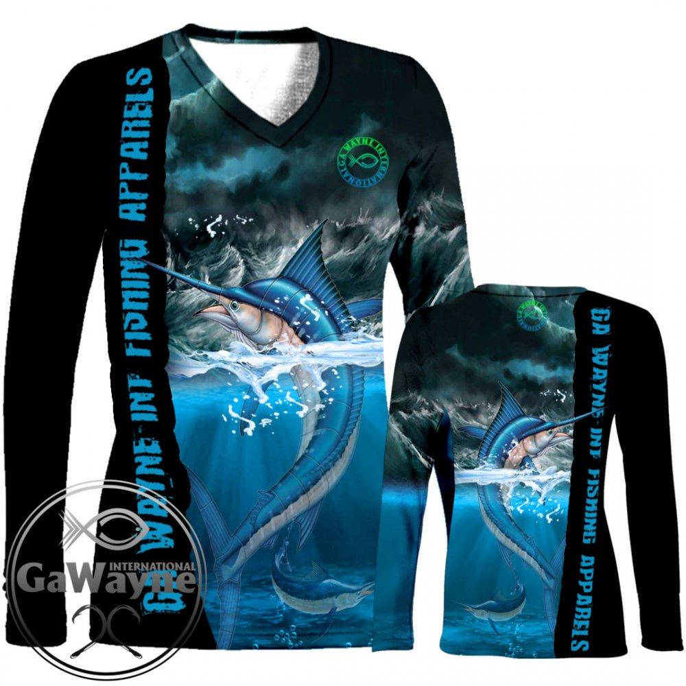 Angry Marlin Fishing Performance Shirts