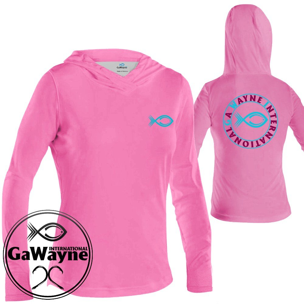 Pink Hooded Shirts