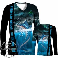 Angry Marlin Fishing Performance Shirts