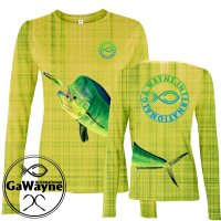 Mahi Yellow camo Fishing Performance shirts
