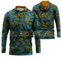 Unisex Hunting Abstract Camouflage Hooded Shirts