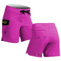 Plain Solid Pink Board Shorts