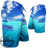 Blue Oceanic Fishing Shorts