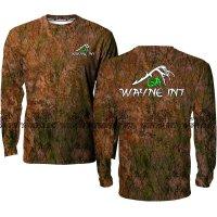 Men's Long sleeve hunting 3D camo shirt