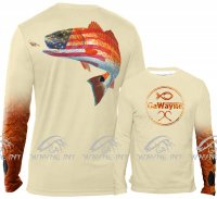 American Flag Redfish Fishing Shirt