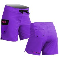 Plain Solid Purple Board Shorts