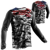 American Flag Fish Camo Fishing Shirts