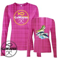 Pink Fish Collage Fishing Performance shirts