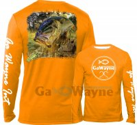 Bass Chasing Frog Fishing Performance shirts