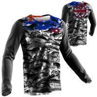 Australian FLAG FISH CAMO FISHING SHIRTS