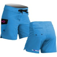 Plain Solid Light Blue Board Shorts